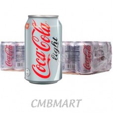 Coca-Cola light can 330 ml. A box of 24 cans.