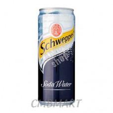 Schweppes Soda Water can 330 ml