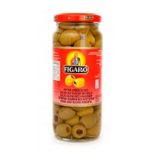 FIGARO PITTED GREEN OLIVE 340g