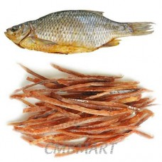 Dry fish with pepper. 100 gr