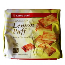 Cookies Khong Guan Lemon Puff lemon Cream  260 gm