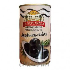 Pitted black olives. La Explanada. 350g