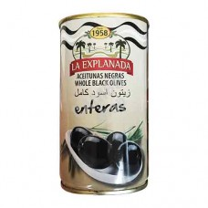 Whole black olives. La Explanada. 350g