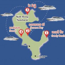 Ticket for speed boat from Sihanoukville to Koh Rong Samloem island and return