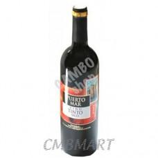 "Red Wine ""Puerto Mar"" Vino Tinto Seco 0.75 L"
