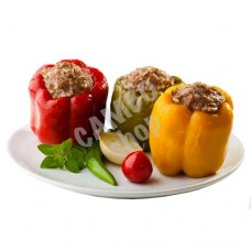 Pepper stuffed with homemade meat and rice. 2 pieces 420-430g