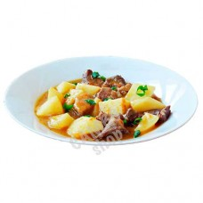 Beef-potato stew 460g. Frozen.