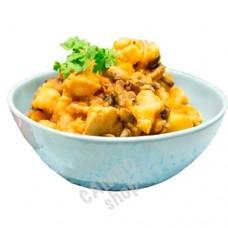 Chicken/potato stew 460g. Frozen.