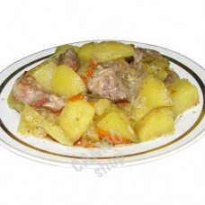 Pork-potato stew. 460g. Frozen.