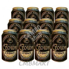 """Crown Stout"" beer can 330 ml 1 box 24 cans"