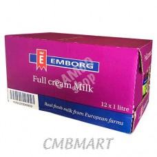 Emborg Full Cream Milk 1 lt 12 pack per box