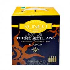 White Wine Terre Siciliane. Cantine Ronco 3l