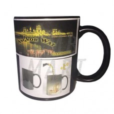 Chameleon mug with a picture of Cambodia