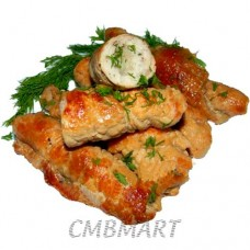Chicken roll with garlic and dill
