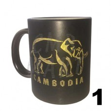 Mug with gold engraving Cambodia