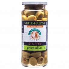 Olives green pitted stuffed Sandhurst 350g