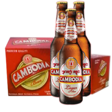"""Cambodia"" beer 330ml Pint Bottle. Peice per 1 Box 24 Bttl"