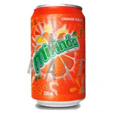 Mirinda Orange Flavor, can 330 ml