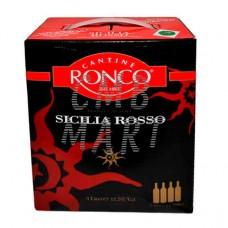 Red Wine. Tierre Siciliane. Rosso. Cantine Ronco. 3l