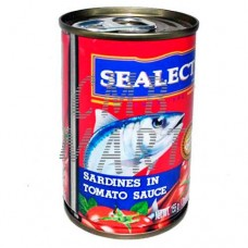 Sardines in tomato sauce. Sealect. 155g