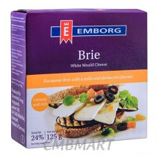 Cheese Emborg Brie 125 gm