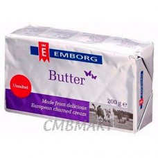 Butter Emborg 200 Unsalted gm