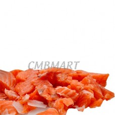 Salted salmon, pieces. 200g