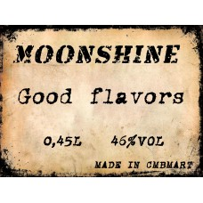 Moonshine 46°. Select the taste. 0.45 lt