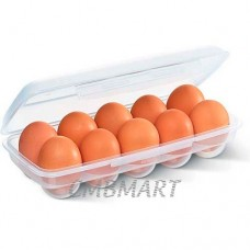 Chicken egg for 10 pieces in a container.