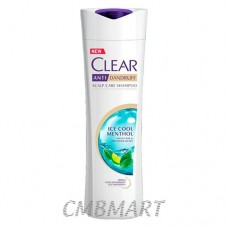 Clear anti-dandruff shampoo, ice cool mentol. 330ml