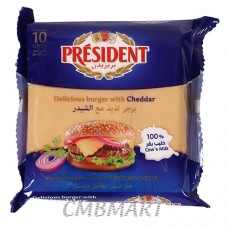 PRESIDENT DELICIOUSE BURGER WITH CHEDDAR CHEESE 10S 200G