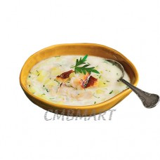 Potato soup with smoked scomber and milk 450 ml