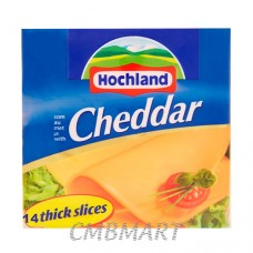 Sliced Cheddar Cheese Hochland 14 sl, 350 gm