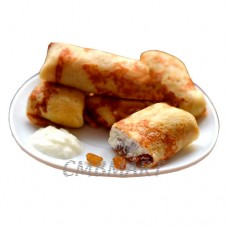 Pancakes with cottage cheese. 3 pcs. ≈300g.
